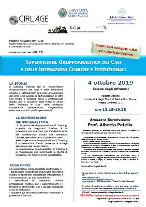 Evento ECM 4 Ottobre 2019